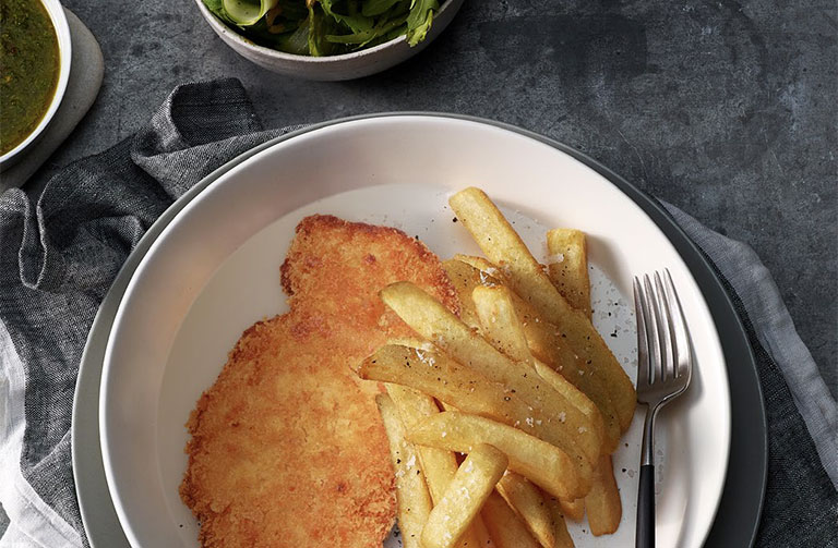 Air Fried Chicken Schnitzel Explore Our Delicious Recipes Food Thinkers Breville